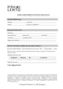 formulario domiciliación bancaria RL 2017-001